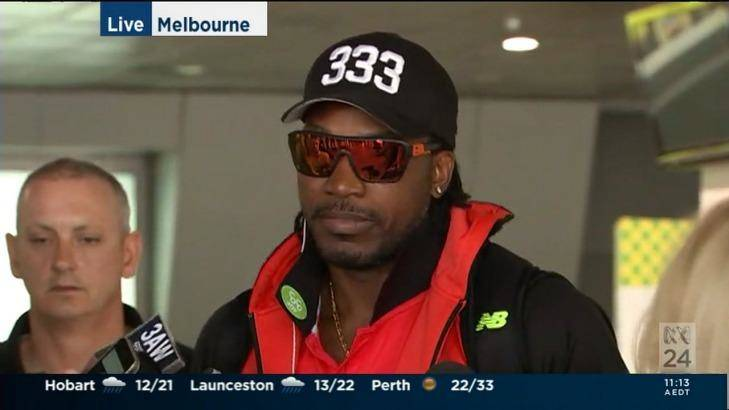 Chris Gayle interview with Mel McLaughlin scandal in live interview