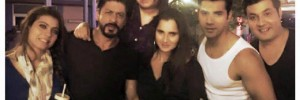 Sania Mirza And SRK Selfie Party