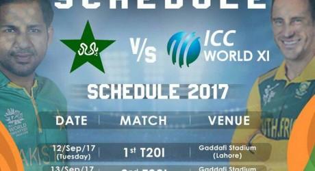 Pakistan v World XI 2nd T20 2017