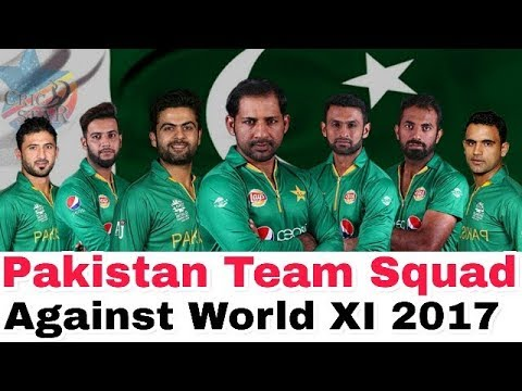 Pakistan Squad for 3rd T20 against World XI 2017: