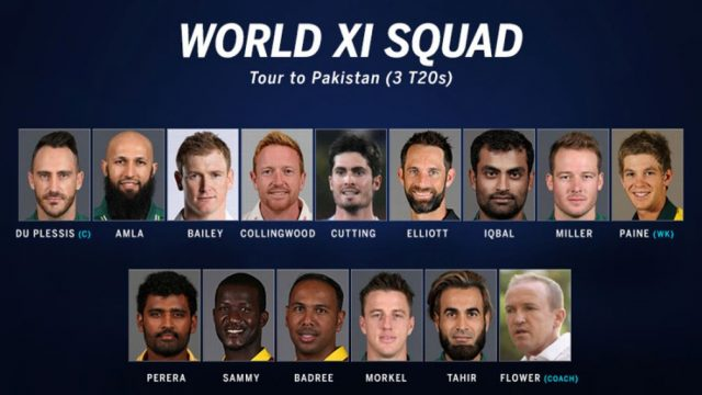 World 11 Squad for 3rd T20 against Pakistan 2017: