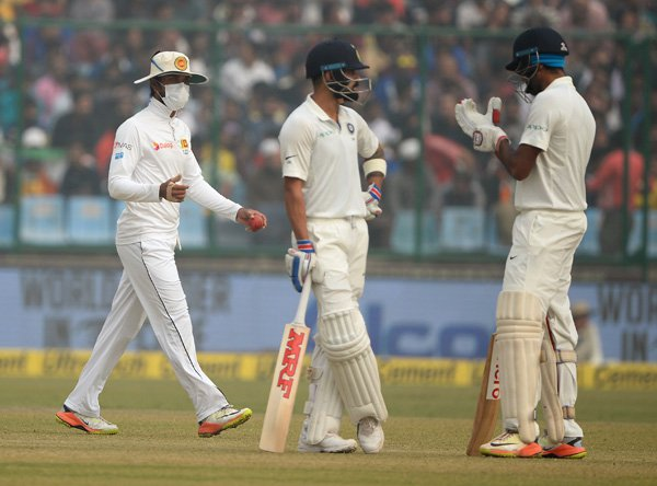 Sri Lankan Players Masked During Test Match