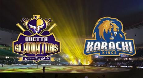 Karachi Kings vs Quetta Gladiators