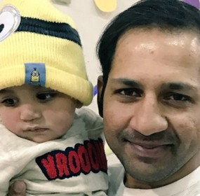 Sarfraz With Son