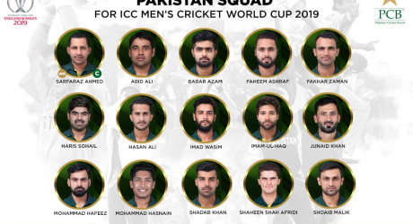 Pak Squad for ICC Cricket World Cup 2019